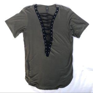 Sexy Plunging neckline t-shirt